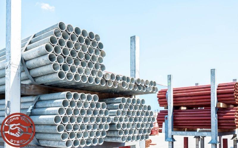 Thép ống được sử dụng phổ biến trong xây dựng.